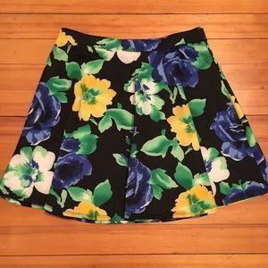 Floral Scuba Circle / Skater Skirt